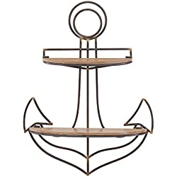 Danya B. FHB626 Decorative Sturdy Nautical Anchor Wall Shelf Coastal Seaside Home Decor