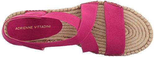 Adrienne Vittadini Footwear Women's Charlene Espadrille Wedge Sandal Hotpink qa6Bm