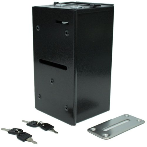 Metal Casino Toke Box with Dual Locks and Bill Slot - for Gaming Tables by Brybelly