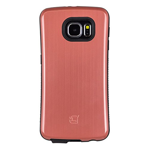Samsung Galaxy S6 Mobile Case By Caseco- Shock Express Metallic Drop-Proof Case - Shockproof Heavy Duty Cover - Anti-Slip & Sleek Design - Military Standard Tested (Marsala Maroon)