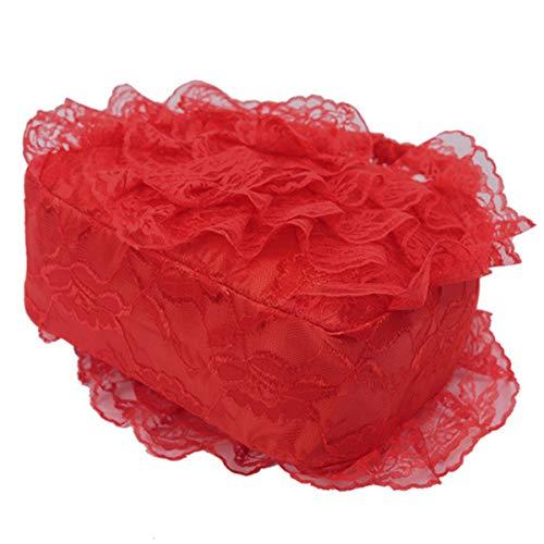 Dentelle Rouge Poignée à Main Supérieure Sac GOFIVE Sac Tissu Dentelle Grande Mariée En Mariée Sacs à w708BxqP0