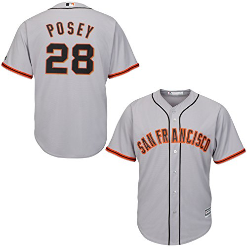 Buster Posey San Francisco Giants Gray Youth Cool Base Road Replica Jersey Medium 10/12 by OuterStuff