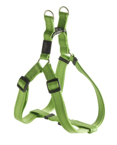 Rogz Utility Large 3/4-Inch Reflective Fanbelt Adjustable Dog Step-in-Harness, Lime, My Pet Supplies