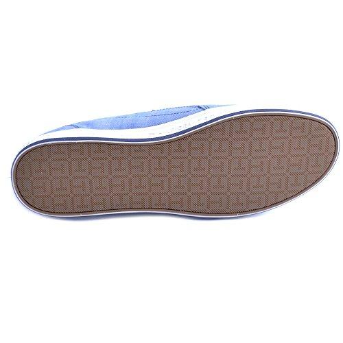 Slip Jeans in Bianca 45 Hilfiger in On Scarpe Tommy Taglia Uomo Gomma Modello Tessuto Denim Fondo IHwO8x