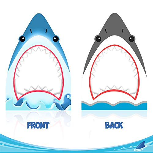 Shark Photo Booth Frame Shark Zone Party Selfie Photo Props for Shark Theme Birthday Party Decorations Baby Shower Cutout Frame -