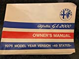 Alfa Romeo Alfetta GT 2000 Owner's Manual (1976 Model Year Version)