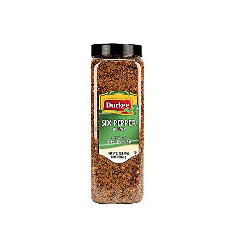 Egg Brown Hash (Durkee Six Pepper Blend - 22 oz. container, 6 per case)