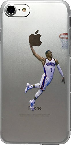 ECHC Favorite Basketball Player Hard Plastic iPhone Case (Westbrook, iPhone 7 and 8)