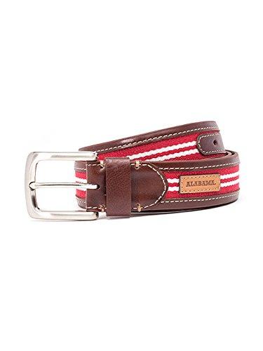 Jack Mason Brand Men's Alabama Tailgate Belt - Size 34 (JMU-2006-AL-34)