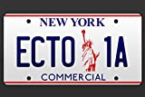 ECTO 1A New York Statue of Liberty Movie License Plate Poster 12x18 inch