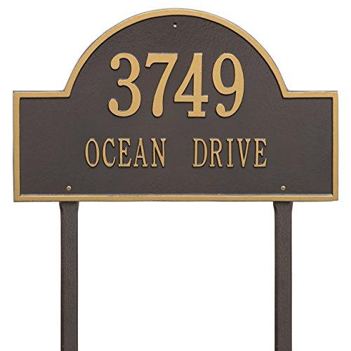 Estate Marker Address Sign - 2 Line Estate Arch Marker LAWN Address Plaque 24