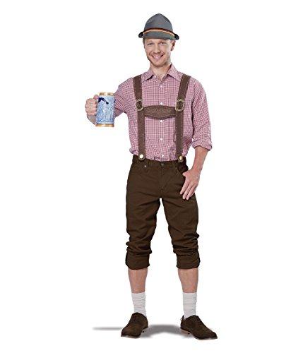 California Costumes Men's Lederhosen Kit, Brown, One Size -