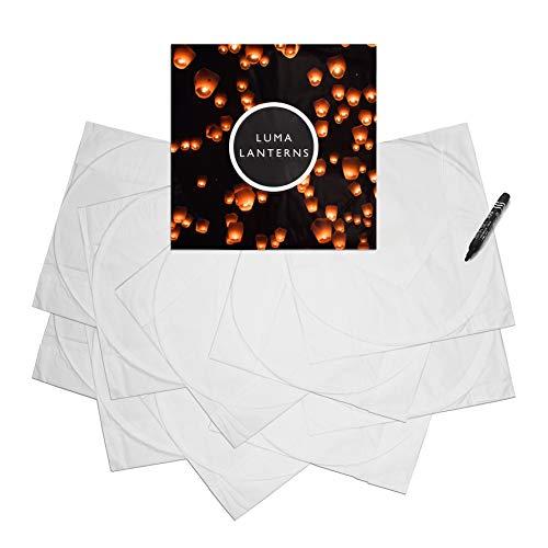Fly Paper Candle Lantern (10-pack) - Lanterns To Release In Sky | All Natural & Environmentally Safe | Anniversary Wishlantern | Wishlanterns Party Light Celebration w/ Marker Pen - By Luma Lanterns by Luma Lanterns (Image #3)