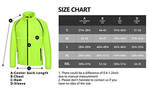 Little Donkey Andy Men's Quick-Dry Running Jacket, Convertible UPF 50+ Cycling Jacket Windbreaker with Removable Sleeves