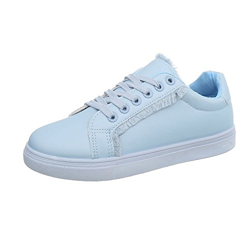 Bleue 91 G Espadrilles Baskets Femme Lumière design Chaussures Ital Sneakers Plat Mode Low yvHO7TPqw