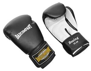 Profi PU Boxhandschuhe Handschuhe White Tiger schwarz/weiß, 14 Unzen (OZ)