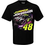 Checkered Flag 2019 NASCAR-Contender-Driver T-Shirt-100% Cotton-Jimmie Johnson #48-Large