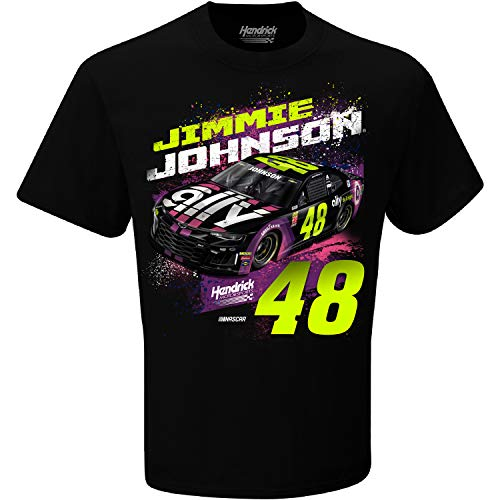 (Checkered Flag 2019 NASCAR-Contender-Driver T-Shirt-100% Cotton-Jimmie Johnson)