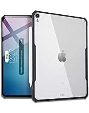 TEGAL Ultra Slim Clear Case Compatible for iPad Pro 11/12.9 Inch, Flexible TPU Design Bumper [Lightweight, Absorbs Shock], Supports Apple Pencil Wireless Charging