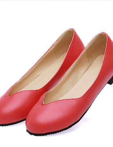 ZQ YYZ Damenschuhe Damenschuhe YYZ – TAC ¨ ® n flach – Ballerina – flach – Büro und Arbeit/Kleid/Casual semicuero – Schwarz/Rot/Beige Schwarz (US 6 / EU 36 / UK 4 / CN 36) 168478