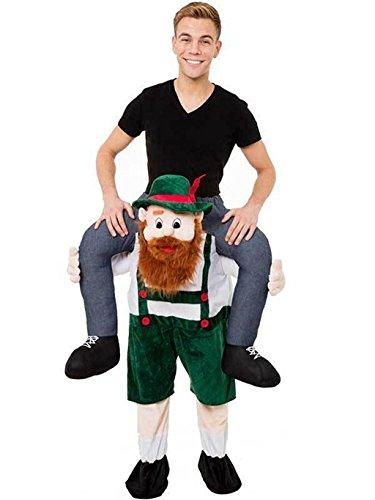 [HOT Piggy Back Carry Me Bavarian Beer Day Mascot Costume Fancy Dress] (Guy Cheerleader Costumes)