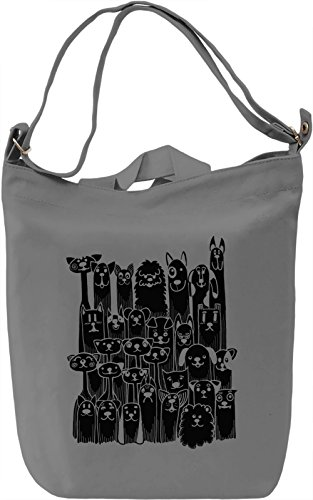 Dogs Borsa Giornaliera Canvas Canvas Day Bag| 100% Premium Cotton Canvas| DTG Printing|