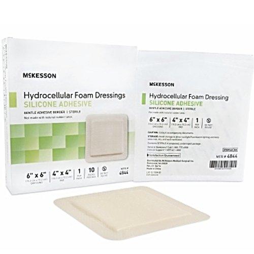 McKesson Hydrocellular Foam Dressing Silicone Adhesive Border 6