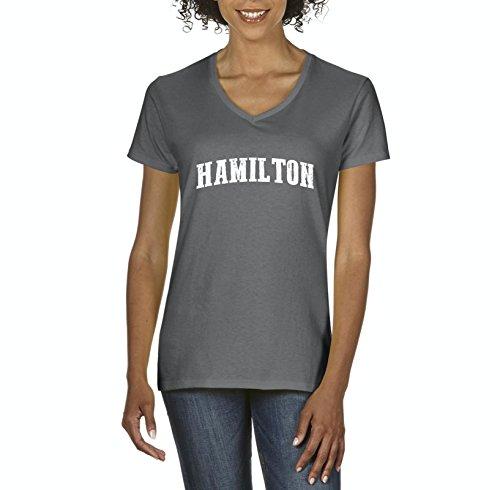 Canadian States Hamilton Canada Womens Shirts V-Neck