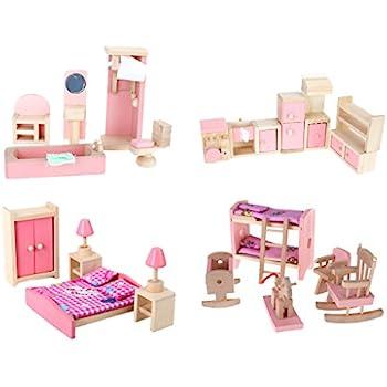 dollhouse furniture cheap. 4 Set Dollhouse Furniture Kid Toy Bathroom Room Bedroom Kitchen Cheap D
