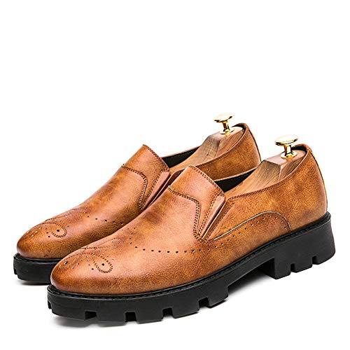 intagliate Basse EU shoes Color Oxford 2018 spesse Casual Men's Dimensione base Xujw Scarpe Marrone Fashion Business Marrone Classic scarpe Stringate 38 PFSx1fwI