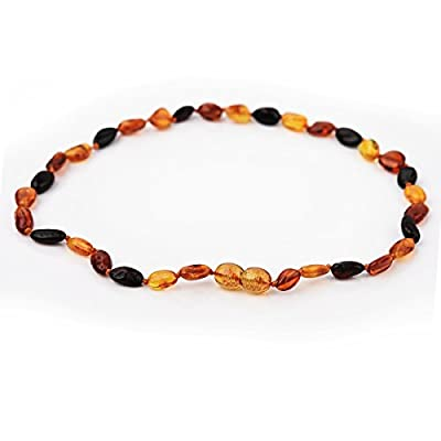 Rainbow Dove Baltic Amber Teething Necklace Natural For Babies(Unisex) - Anti-inflammatory, Teething Pain Relief, Drooling, Fussiness Reduce