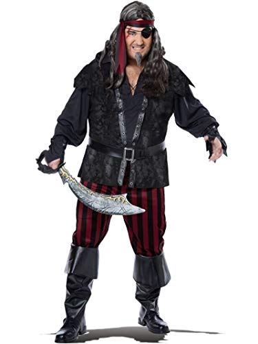 California Costumes Men's Plus-Size Ruthless Rogue Pirate Buccaneer