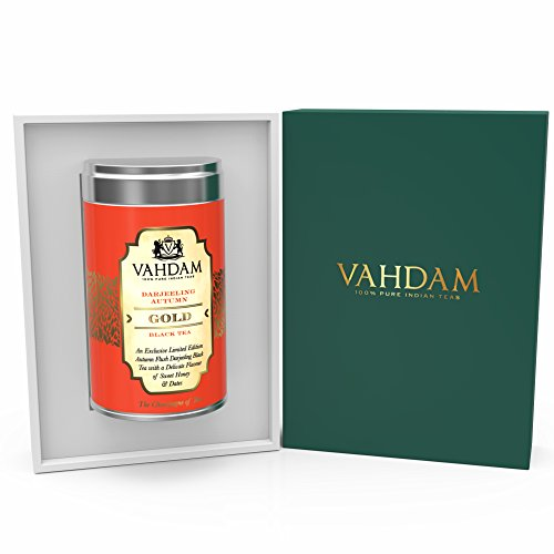 Darjeeling Autumn GOLD Exclusive Limited Edition Autumn Flush Tea - Luxury Gift Box with Delicate Flavour of Sweet Honey & Dates
