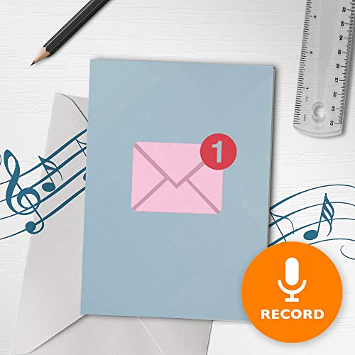 Musical Valentines Day Cards - Modern Love Musical Card | Cute Valentines Day Card, Sweet Musical Greeting Card, Notification Card, Unread Message Card 10268 (120 Second Recordable)