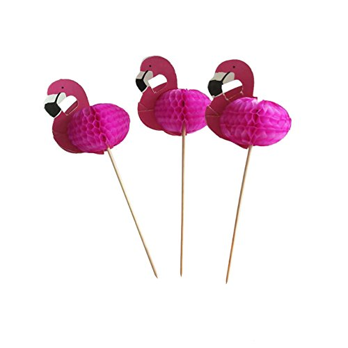 (Price/30PCS) Aspire Pineapple/Flamingo/Summer Umbrella/Pitaya/Pirate Cocktail Sticks, Cupcake Toppers, Party Decoration, Halloween Christmas Party Favors-Flamingo ()