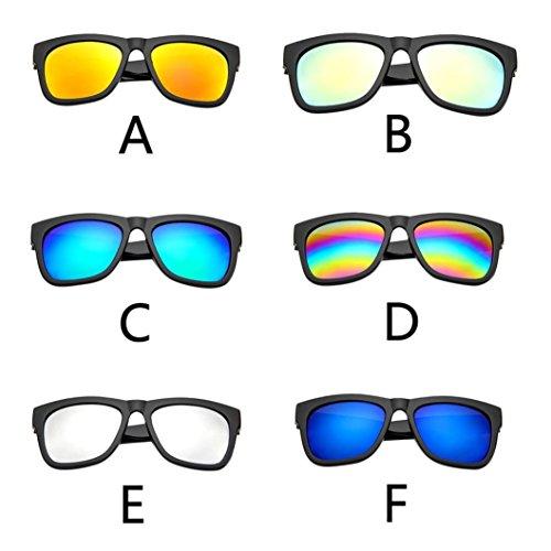 Gafas Gafas Mercury Sol Negro Adeshop libre Mujeres Hombres de Retro 6 Brillante sol Casual Aire Espejo Unisex Gafas Colores Aviador Moda Rojo Y Ugqq6A