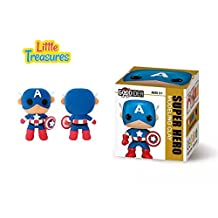 America super-hero captain Clay modeling and sculpting DIY play-set - create your 3D favorite cartoon characters with molding play-dough kit - a fun arts and craft kid's artist toy project