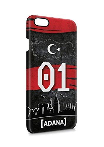 3D iPhone 7 Adana 01 Plaka Türkiye Hard Tasche Flip Hülle Case Cover Schutz Handy
