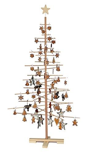 xmas3 L 190 cm Weihnachtsbaum aus Holz, natur, 100 x 100 x 190 cm