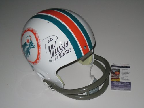 Paul Warfield Autographed Miami Dolphins Throwback Full Size Helmet (JSA COA)