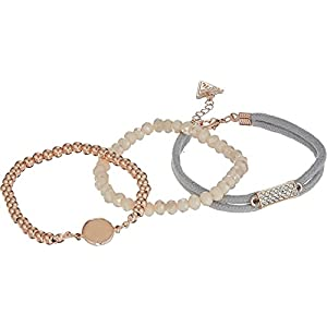GUESS Love Struck Women's Multi Bracelet Set Of 5, Rose Gold, One Size