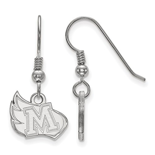 Meredith College Ring - Sterling Silver Rh-plated LogoArt Meredith College Small Dangle Earrings, Sterling Silver