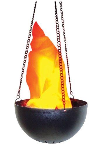 Morris Hanging Flame Light Lamp Prop,Black,orange,Standard ()