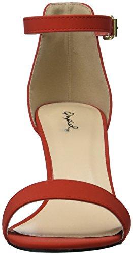 Mujer Sandalia de Qupid Sandalia Rojo tacón tacón 1q0nAOX