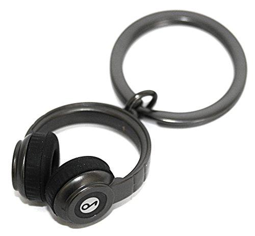 Metalmorphose Headphones Keychain Music Gift Accessory- Dark Gray Beats -