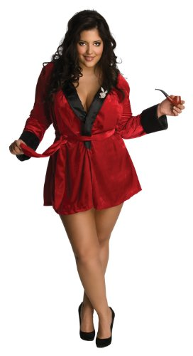 Playboy Bunny Costume Plus Size (Secret Wishes Women's Playboy Sexy Girlfriend Red Plus Size Costume, Red, Plus)