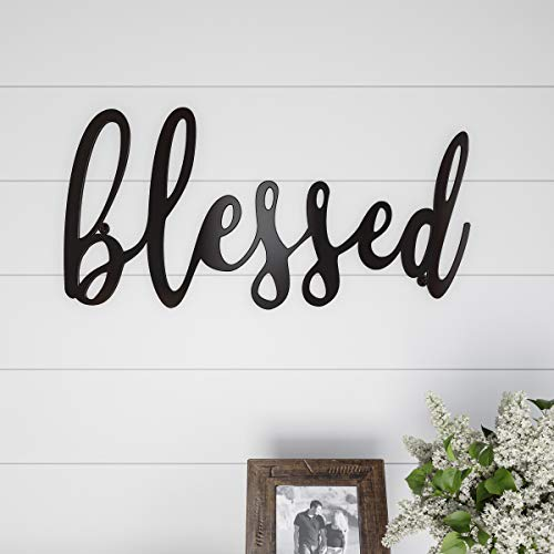 tout-Blessed Wall Sign-3D Word Art Home Accent Decor-Perfect for Modern Rustic or Vintage Farmhouse Style ()