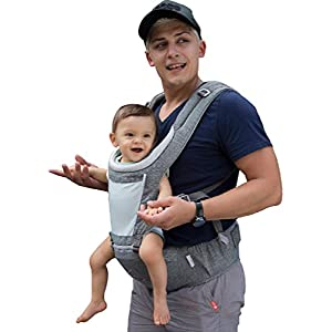 Baby Carrier Hip Seat for Newborn Toddler,Front Facing Child...