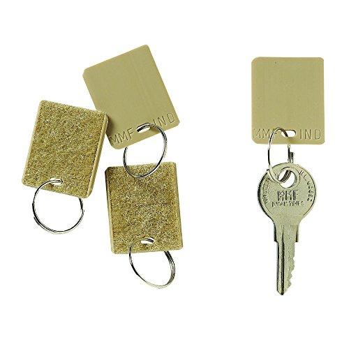 STEELMASTER Hook and Loop Fastener Replacement Key Tags, Tan, 12/Pack (201500003)