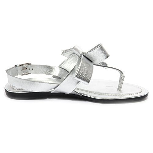 Flops Shoe Woman Tod's Infradito Flip Donna B1563 Fiocco Argento Sandalo qn80aOqwgx